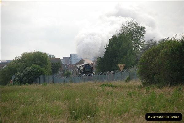 2012-07-09. 35028 Clan Line @ Whitecliffe, Poole, Dorset.  (1)041
