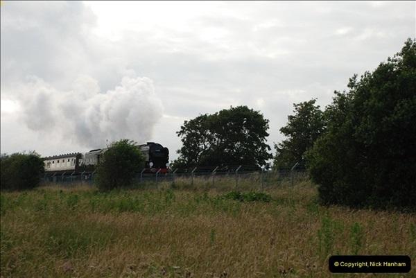 2012-07-09. 35028 Clan Line @ Whitecliffe, Poole, Dorset.  (3)043