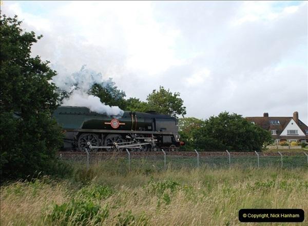 2012-07-09. 35028 Clan Line @ Whitecliffe, Poole, Dorset.  (5)045