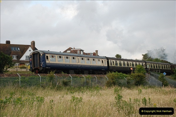 2012-07-09. 35028 Clan Line @ Whitecliffe, Poole, Dorset.  (12)052