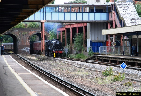 2014-07-05 Black 5 44932 at Pokesdown, Bournemouth, Dorset.  (1)193