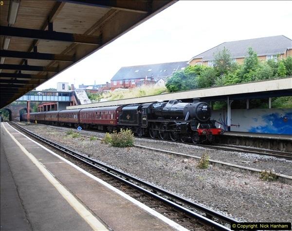 2014-07-05 Black 5 44932 at Pokesdown, Bournemouth, Dorset.  (5)197