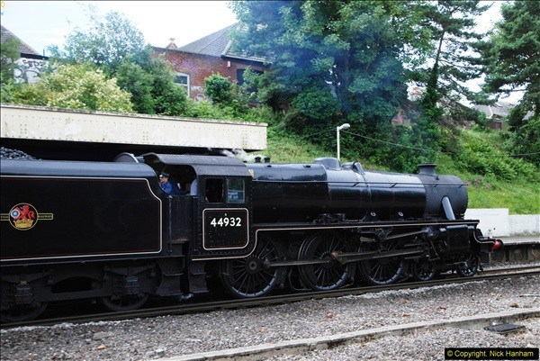 2014-07-05 Black 5 44932 at Pokesdown, Bournemouth, Dorset.  (11)203