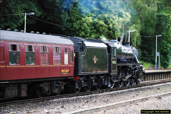 2014-07-05 Black 5 44932 at Pokesdown, Bournemouth, Dorset.  (17)209
