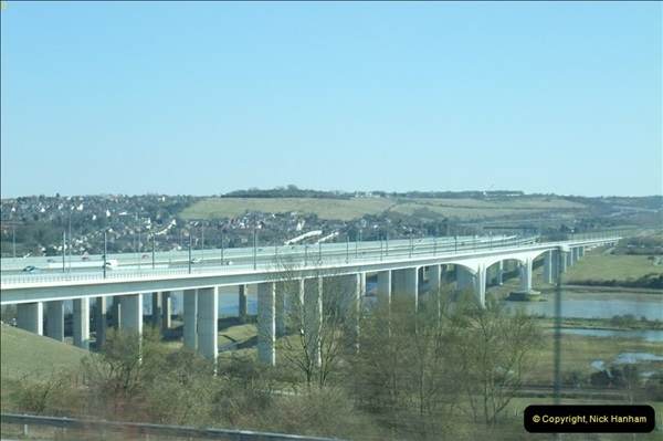 2013-04-06 The HS1 rail structure over the River Medway, Kent  (7)059
