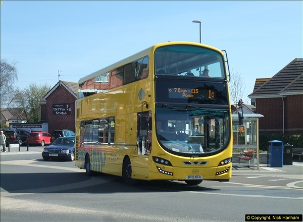 2015-04-07 New 15 plate Yellow Bus @ The Sea View, Parkstone, Poole, Dorset.  (3)31