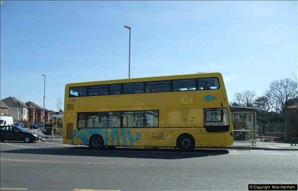 2015-04-07 New 15 plate Yellow Bus @ The Sea View, Parkstone, Poole, Dorset.  (4)32