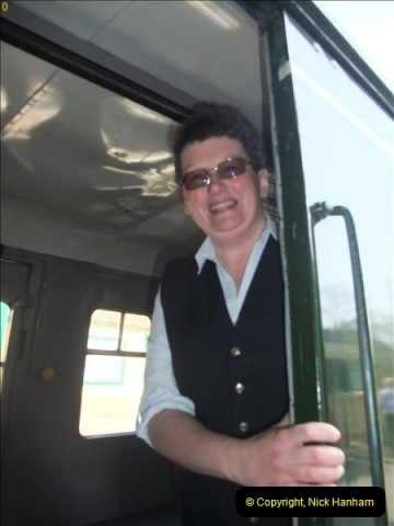 2012-03-24 SR Railway At Work Weekend. Your Host on the DMU.  (33)033