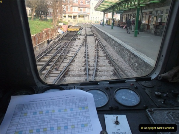 2012-03-24 SR Railway At Work Weekend. Your Host on the DMU.  (46)046