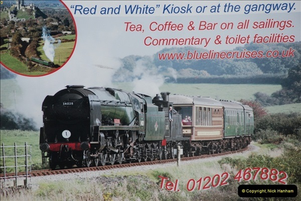 2012-06-27 Pleasure boat advert. Poole Quay, Poole, Dorset.  (2)428