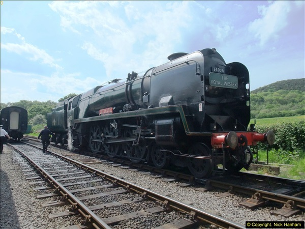 2014-05-19 Driving West Country Class 34028.  (30)413