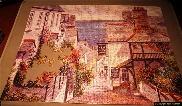 2015-08-04 The two X 1000 piece puzzles of Clovelly completed (1)140
