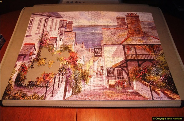 2015-08-04 The two X 1000 piece puzzles of Clovelly completed (2)141