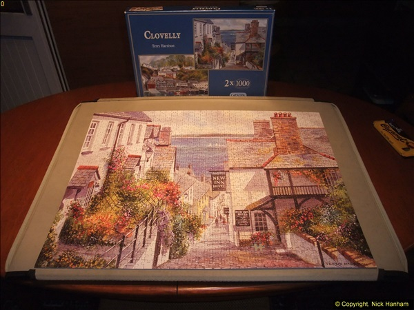 2015-08-04 The two X 1000 piece puzzles of Clovelly completed (5)144