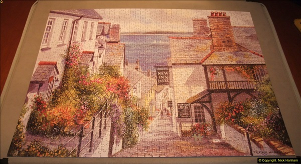 2015-08-04 The two X 1000 piece puzzles of Clovelly completed (6)145