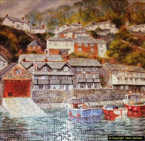 2015-08-04 The two X 1000 piece puzzles of Clovelly completed (11)150