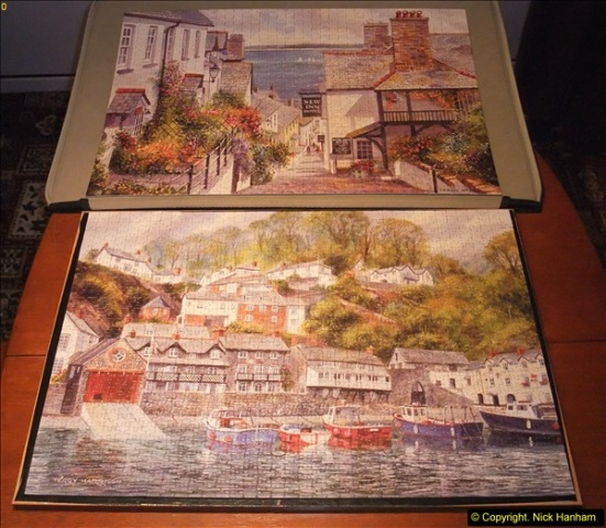 2015-08-04 The two X 1000 piece puzzles of Clovelly completed (17)156