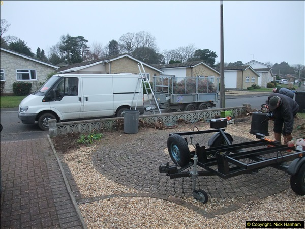 2015-03-09 Front and back garden alterations start.  (12)092