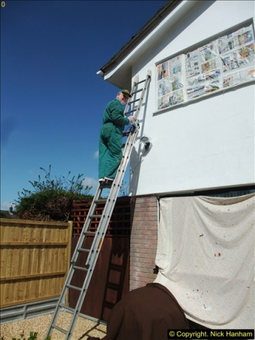 2015-04-10 to 12 Outside house cleaning and wall painting + a summer house repaint.  (14)309