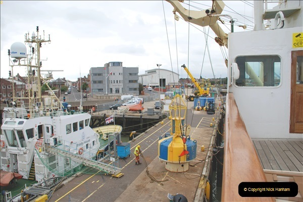 2018-08-14 to 22 Trinity House Vessel Patricia Harwich to Weymouth.  (210)210