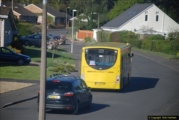 2015-04-27 First Bus route on your Host's Road.  (19)019