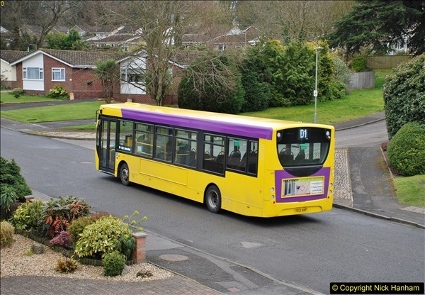 2018-03-31 Last days of service for the D1 as  a Yellow Bus route.  (3)174