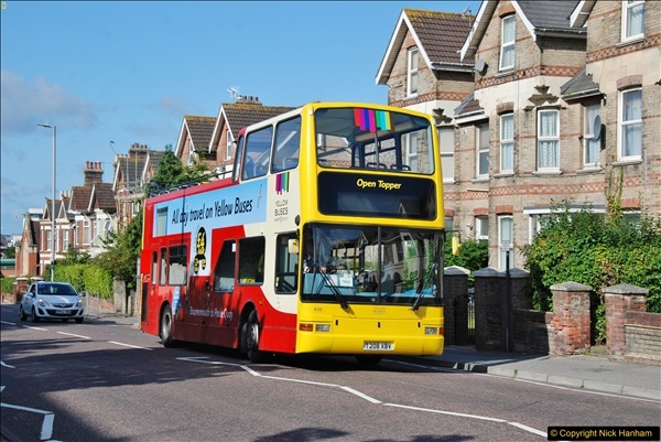 2017-08-12 Yellow Buses Open Top Bus Ride - Poole Quay - Bournemouth - Poole Quay.  (433)433