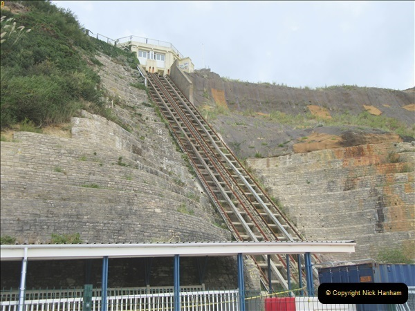 2018-09-08 Bournemouth East Cliff Railway progress after cliff fall.  (1)252
