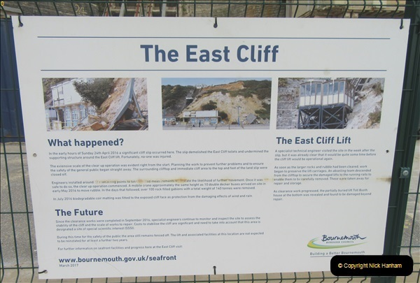 2018-09-08 Bournemouth East Cliff Railway progress after cliff fall.  (5)256