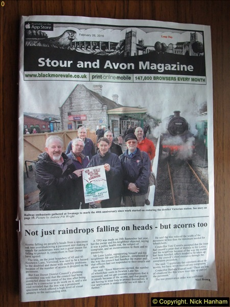 2016-02-14 SR Volunteer 40 years at Swanage Station. (1)074