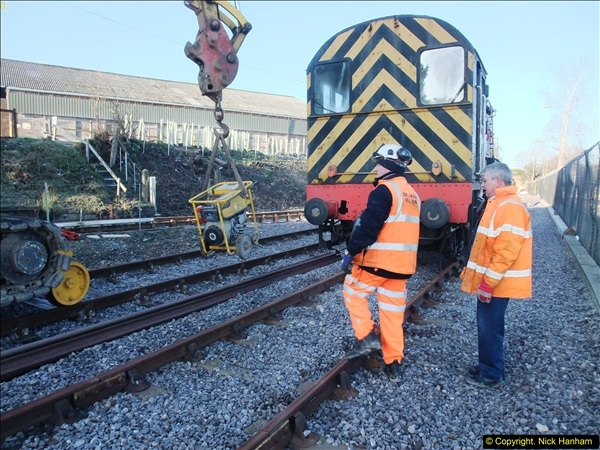 2016-02-15 SR Engineering work on the new section for the Wareham link.  (5)081