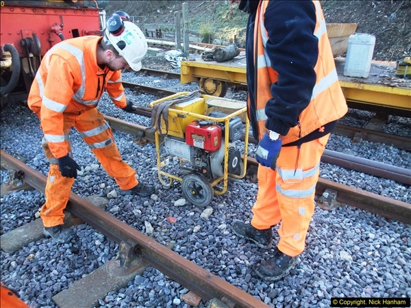 2016-02-15 SR Engineering work on the new section for the Wareham link.  (6)082