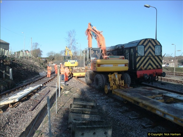2016-02-15 SR Engineering work on the new section for the Wareham link.  (9)085