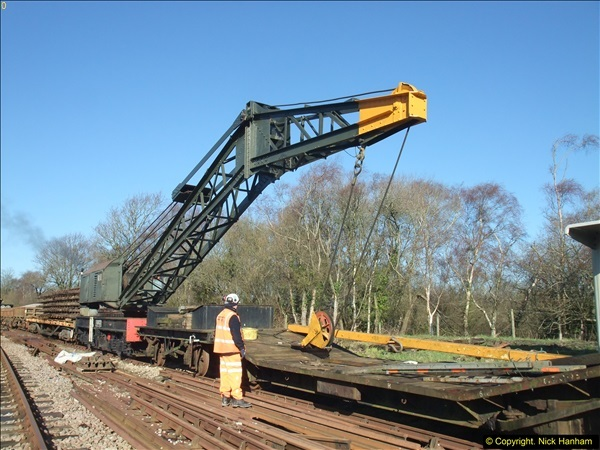 2016-02-15 SR Engineering work on the new section for the Wareham link.  (38)114