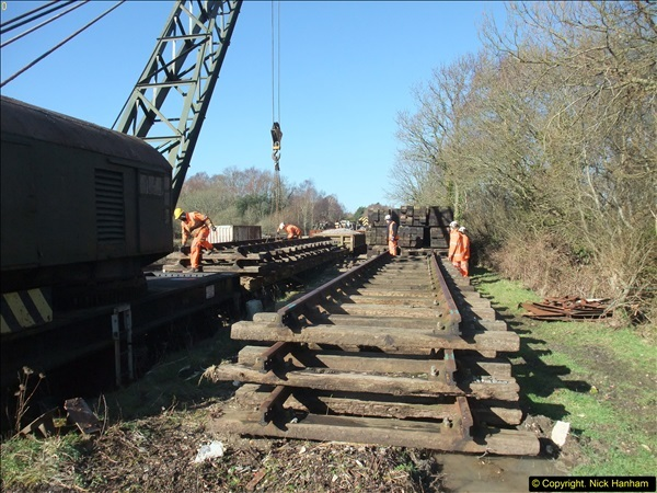 2016-02-15 SR Engineering work on the new section for the Wareham link.  (44)120