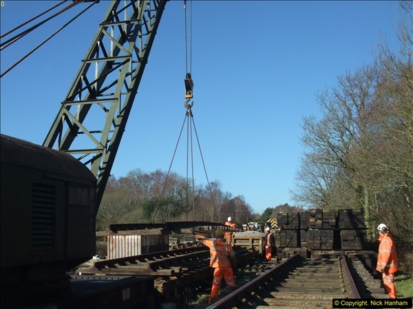 2016-02-15 SR Engineering work on the new section for the Wareham link.  (45)121
