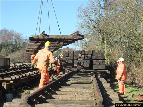 2016-02-15 SR Engineering work on the new section for the Wareham link.  (46)122