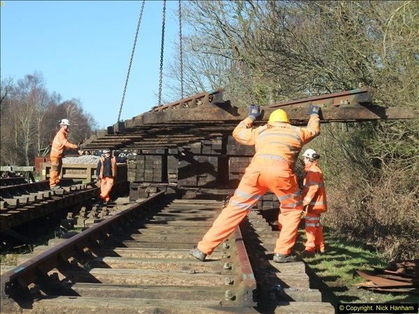 2016-02-15 SR Engineering work on the new section for the Wareham link.  (47)123