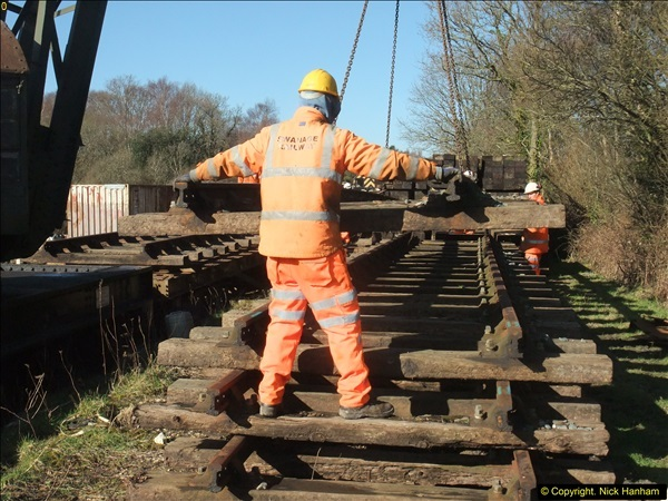 2016-02-15 SR Engineering work on the new section for the Wareham link.  (49)125
