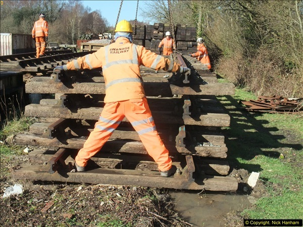 2016-02-15 SR Engineering work on the new section for the Wareham link.  (50)126