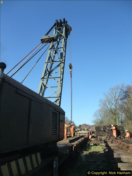 2016-02-15 SR Engineering work on the new section for the Wareham link.  (51)127