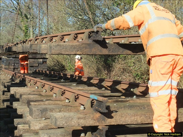 2016-02-15 SR Engineering work on the new section for the Wareham link.  (53)129