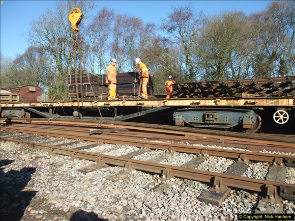 2016-02-15 SR Engineering work on the new section for the Wareham link.  (57)133