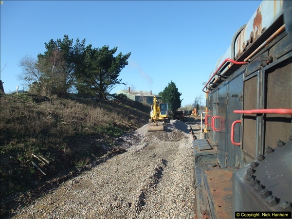 2016-02-15 SR Engineering work on the new section for the Wareham link.  (80)156