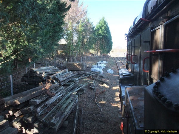 2016-02-15 SR Engineering work on the new section for the Wareham link.  (81)157