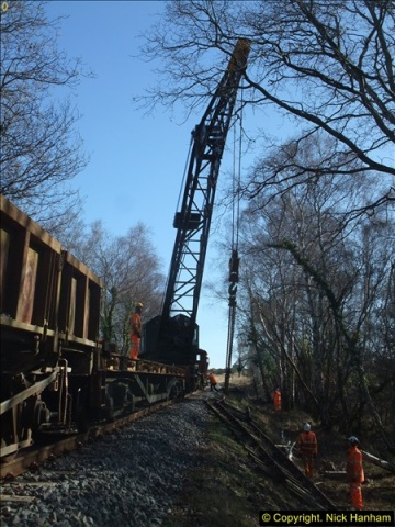 2016-02-15 SR Engineering work on the new section for the Wareham link.  (89)165