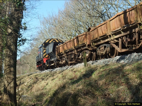 2016-02-15 SR Engineering work on the new section for the Wareham link.  (92)168