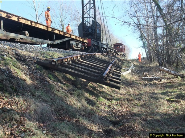 2016-02-15 SR Engineering work on the new section for the Wareham link.  (93)169