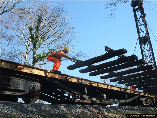 2016-02-15 SR Engineering work on the new section for the Wareham link.  (95)171