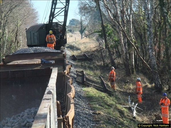2016-02-15 SR Engineering work on the new section for the Wareham link.  (96)172